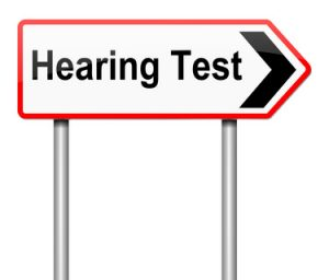 Sign saying Hearing Test