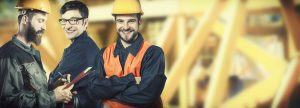 workers in safety protection gear