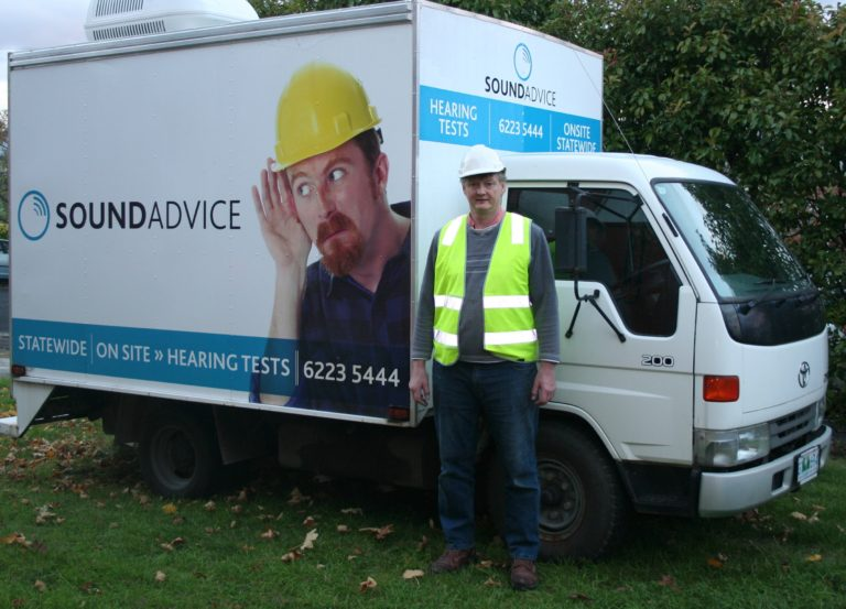 Sound Advice On site hearing screening truck